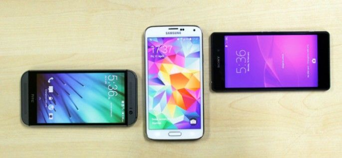 Comparativa HTC One (M8) vs Samsung Galaxy S5 vs Sony Xperia Z2