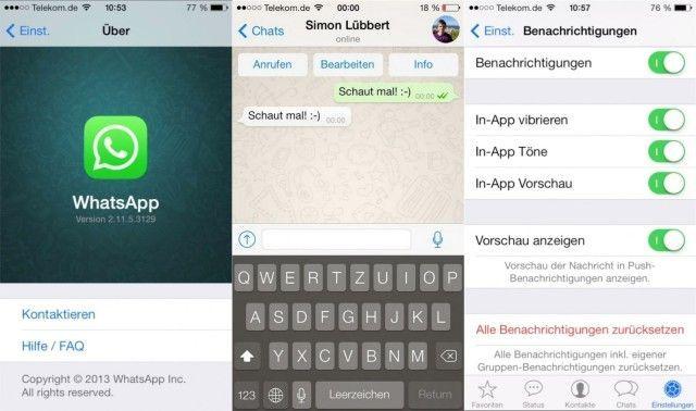 whatsapp iOS8