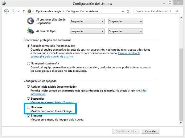 Desactivar el modo hibernación en Windows para recuperar espacio del disco duro