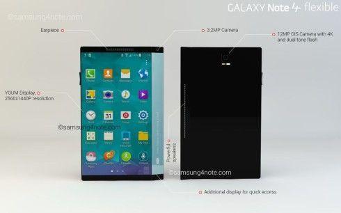 Samsung Galaxy Note 4, un diseño espectacular con pantalla flexible