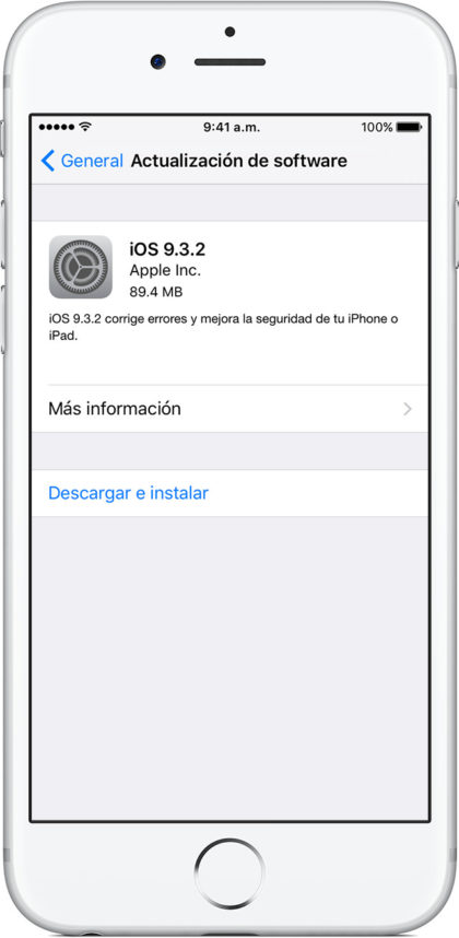 Actualizar software iPhone