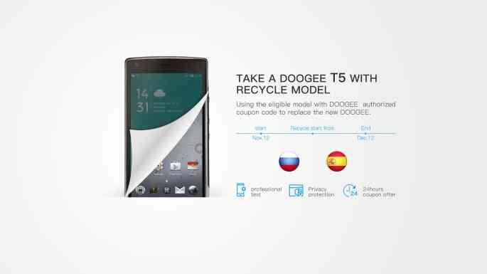 Recicla tu teléfono con DOOGEE