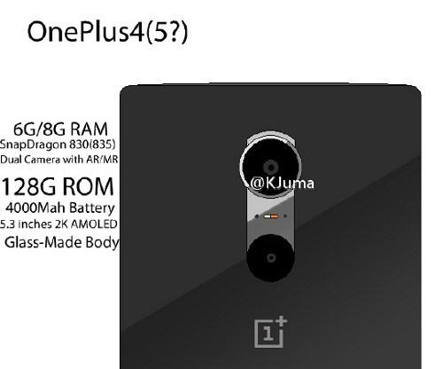 Rumores sobre el ©OnePlus cuatro podría llegar con una doble camara y ocho GB de RAM