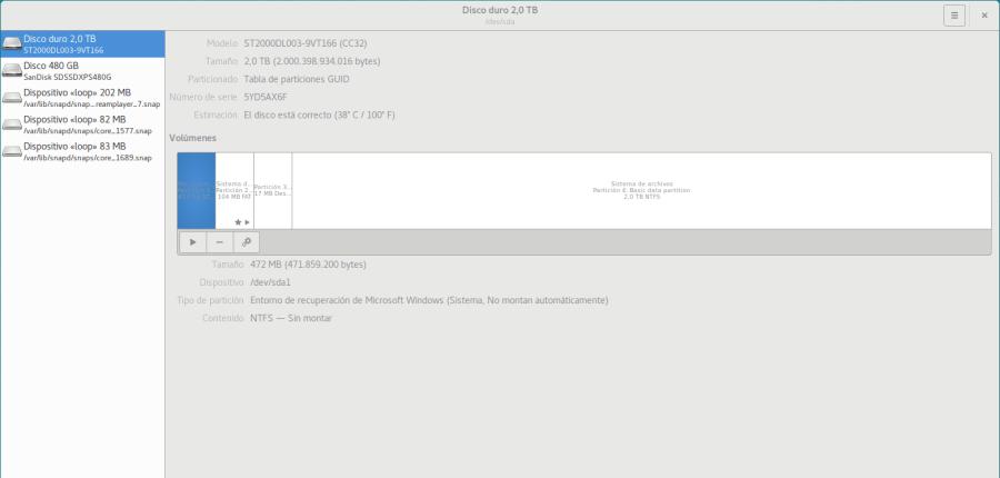 Discos y particiones en Ubuntu