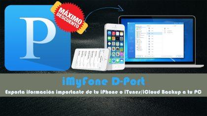 iMyFone D-Port con descuento
