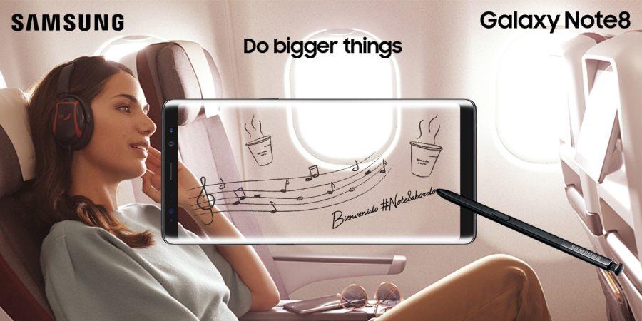 Iberia da la bienvenida al Samsung Galaxy Note8