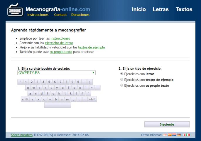Hacer mecanografia gratis internet