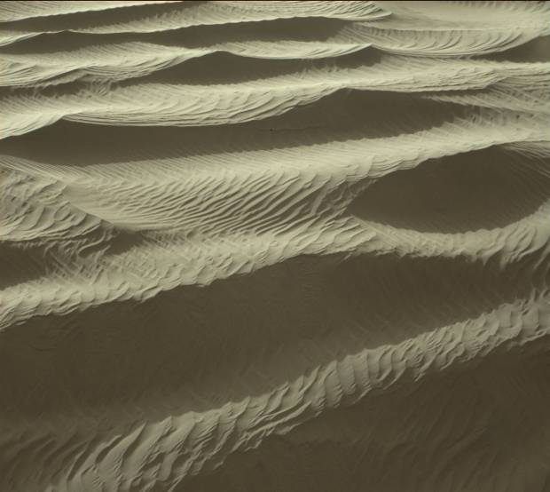 Mastcam view of finely-sculpted sand ripples on High Dune. Image Credit: NASA/JPL-Caltech