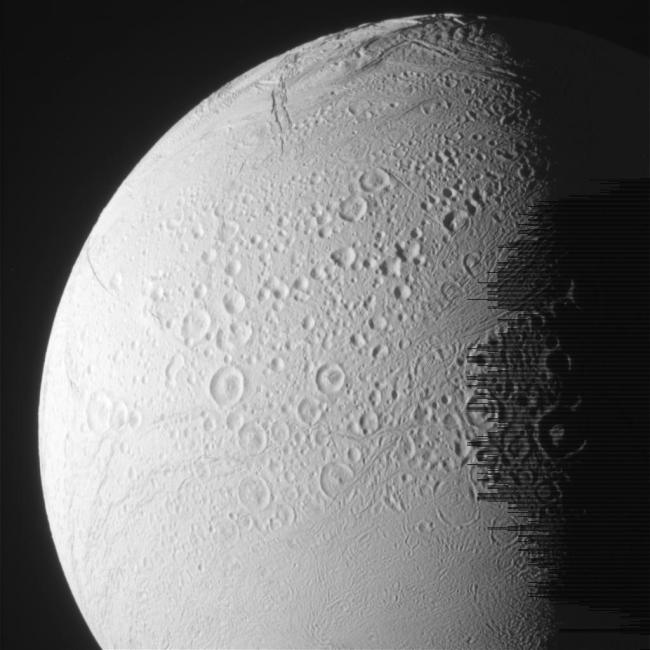 Another raw image from Cassini's latest flyby of Enceladus. Photo Credit: NASA/JPL-Caltech