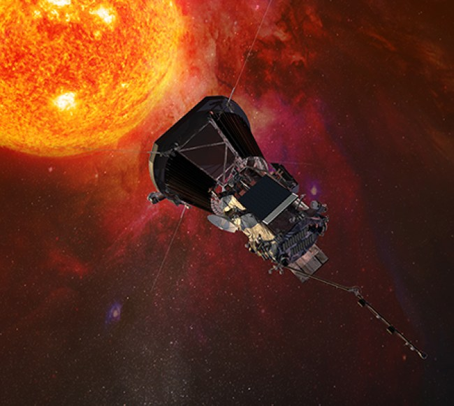 Artist's conception of the Solar Probe Plus spacecraft near the Sun. Image Credit: NASA/JHUAPL