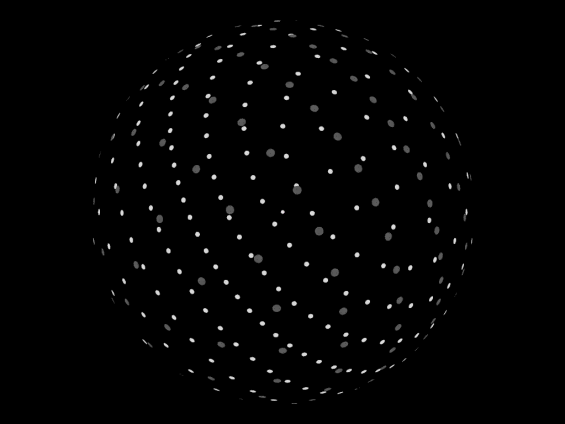 Diagram of one type of hypothetical Dyson Sphere, called a Dyson Bubble, an arrangement of statites around a star, in a non-orbital pattern. Image Credit: Wikipedia/CC BY 2.5