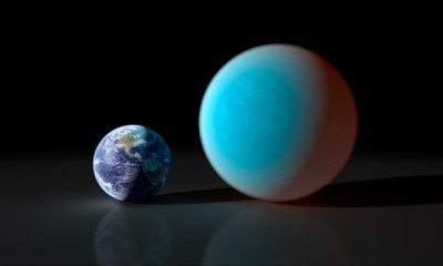 55 Cancri e is a rocky super-Earth exoplanet about twice the size of Earth and eight times as massive (artist's conception). Image Credit: Wikipedia