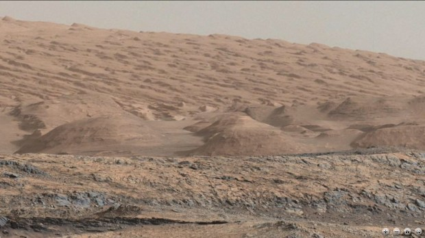 The foothills of Mount Sharp as recently imaged by Curiosity. Image Credit: NASA/JPL-Caltech/MSSS/Lars (@LarsTheWanderer)