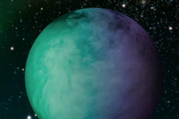 Artist's conception of clouds on Kepler-7b. Image Credit: NASA (edited by Jose-Luis Olivares/MIT)