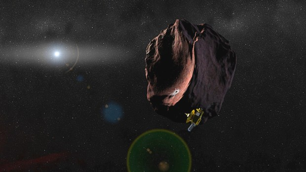 New Horizons has sped past the Pluto system and is now on its way to its next target in the Kuiper Belt, 2014 MU69. Image Credit: NASA/JHUAPL/SwRI