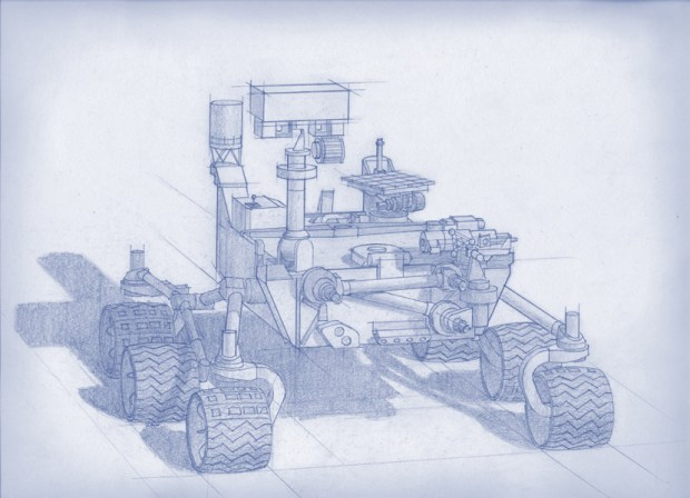 Illustration of the new Mars rover, with the same design as Curiosity and scheduled to launch in 2020. Credit: NASA / JPL-Caltech