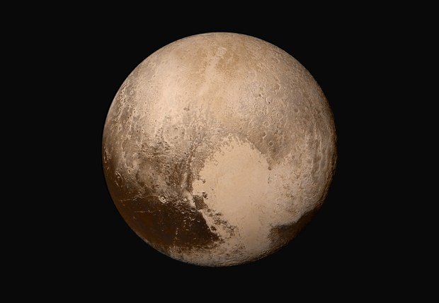 The highest resolution global image of Pluto so far. Photo Credis: NASA/JHUAPL/SwRI