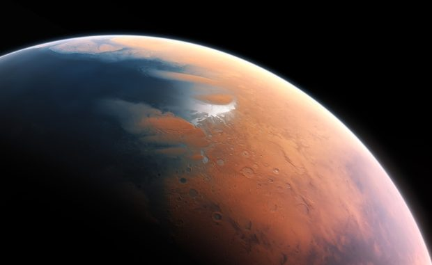 Mars used to have a thicker atmosphere and water on its surface, but what happened to that atmosphere has been a mystery. New research may finally help answer that question. Image Credit: M. Kornmesser/ESO