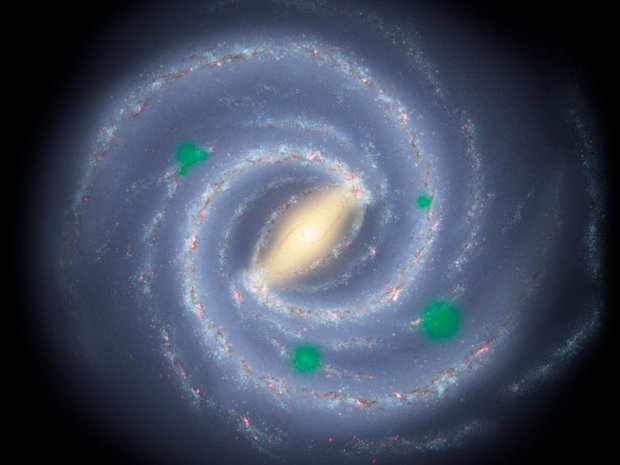 "Does life spread through the galaxy like an infectious disease, with ""bubbles"" of inhabited planets? Image Credit: Harvard-Smithsonian CfA"