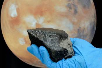 Martian meteorites, such as the Tissint meteorite pictured here, can contain methane, new research shows. Image Credit: NASA