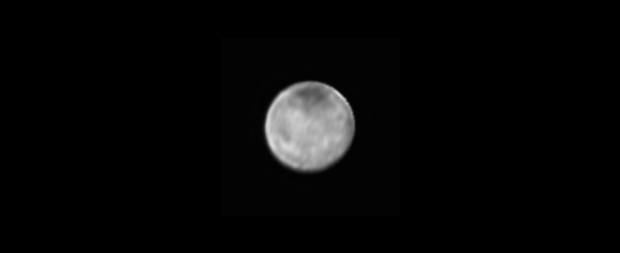 The newest image of Pluto's largest moon Charon, taken on July 8, 2015 by New Horizons. The darker polar area can be better seen now. Image Credit: NASA-JHUAPL-SWRI