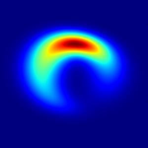 Această imagine în formă de semilună se potrivește cel mai bine observațiilor asupra lui Sagittarius A, gaura neagră supermasivă din centrul galaxiei noastre - conform unui studiu din ianuarie 2013. CREDIT: Kamruddin/Dexter