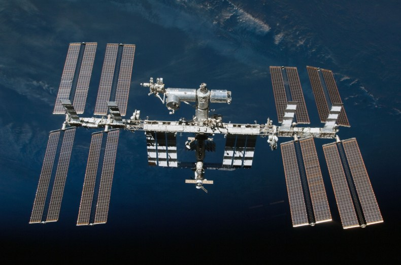 (19 Feb. 2010) --- The International Space Station is featured in this image photographed by an STS-130 crew member on space shuttle Endeavour after the station and shuttle began their post-undocking relative separation. Undocking of the two spacecraft occurred at 7:54 p.m. (EST) on Feb. 19, 2010.
