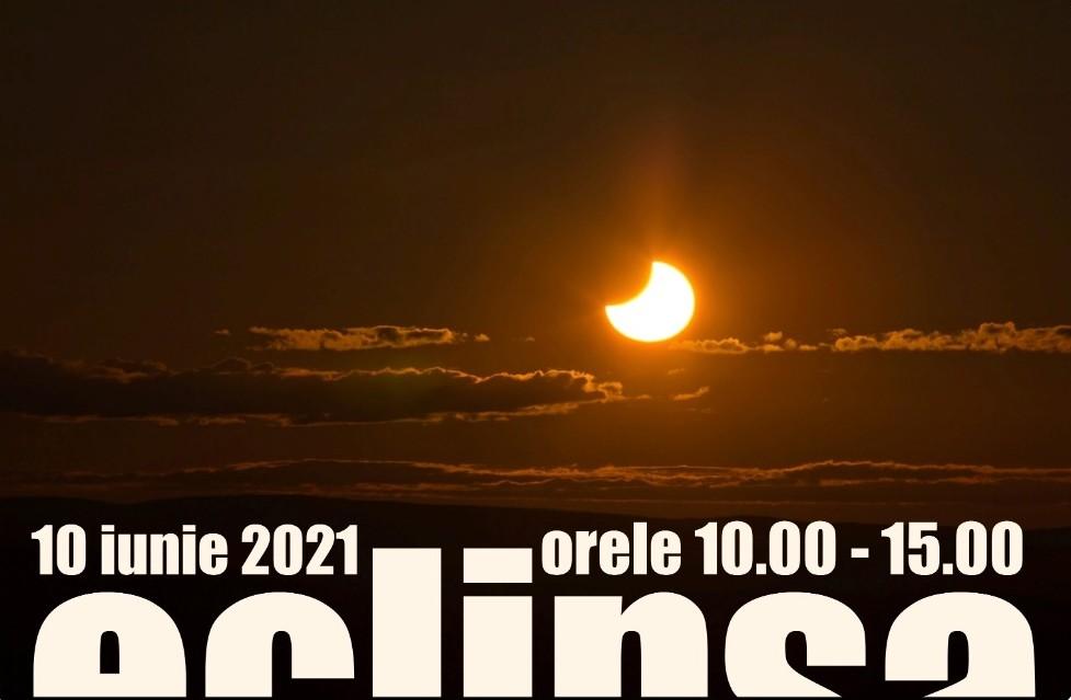 ECLIPSA PARȚIALĂ DE SOARE DIN 10 IUNIE 2021 – LA PLANETARIU
