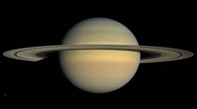 Saturn seen by Cassini in 2008. © NASA/JPL/Space Science Institute