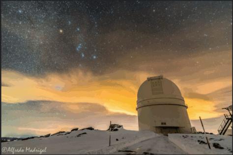 The 3.5m telescope at Calar Alto Observatory (CAHA). © Alfredo Madrigal