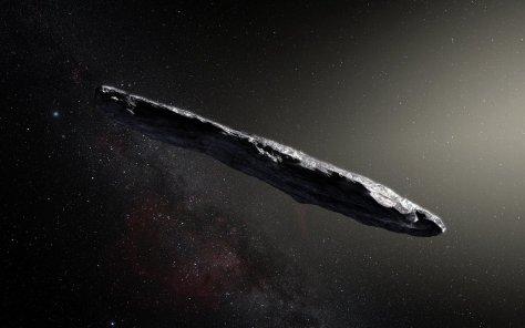 Artist's impression of 'Oumuamua. © ESO/M. Kornmesser