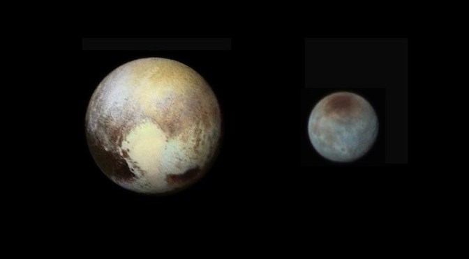 Pluto and Charon seen by New Horizons. © NASA