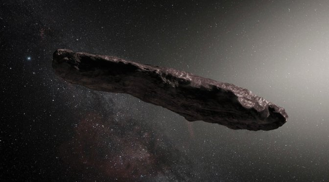 Artist's view of 'Oumuamua. © ESO/M. Kornmesser
