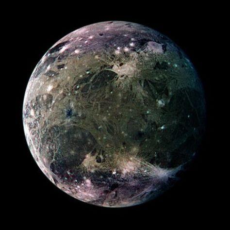 Ganymede seen by Galileo. © NASA / JPL / DLR
