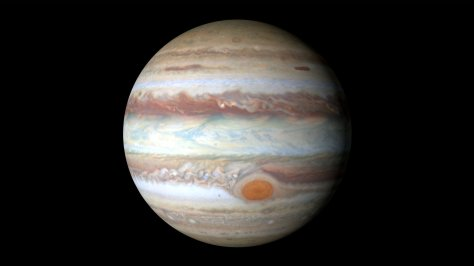 Global view of Jupiter, with the Red Spot at 22° South. © Space Telescope Science Institute/NASA