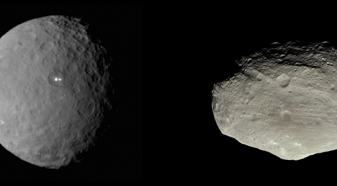 Rotational stability of Ceres and Vesta