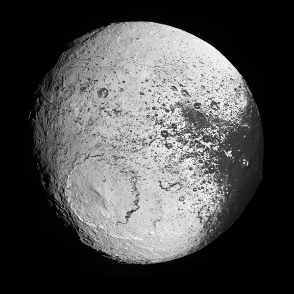Iapetus' trailing hemisphere | The Planetary Society