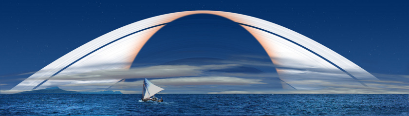I would rather sail the rings, but the lack of air would be a problem for my lungs.