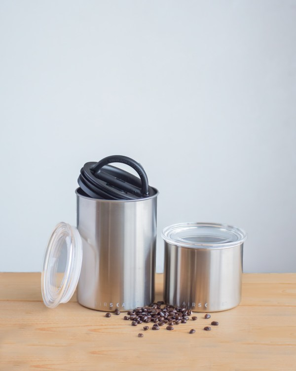 Photo of medium and small Airscape Coffee Canisters