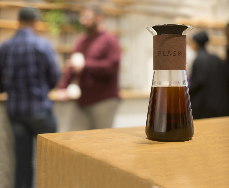 FLASK coffee brewer in coffee shop