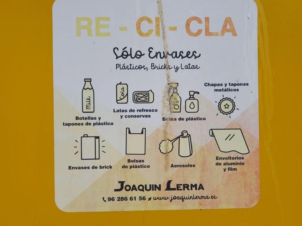 recyclage à Valence Espagne