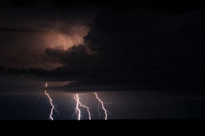 A dramatic storm to usher in the rainy season