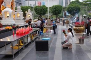 Praying at Siam mall
