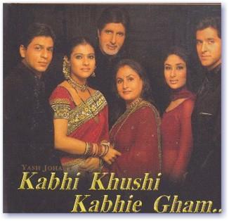 (izq-der: Shahrukh Khan, Kajol, Amitabh Bachchan, Jaya Badhuri, Kareena Kapoor, Hrithik Roshan)