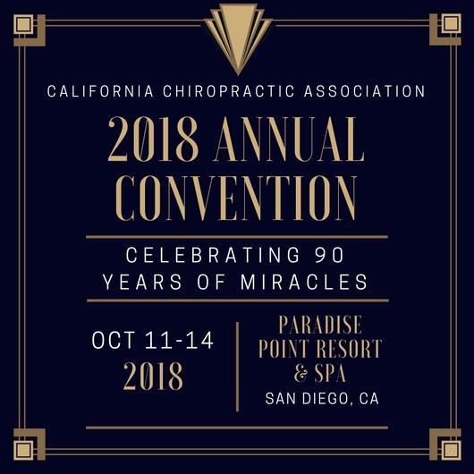 California Chiropractic Convention October 2018