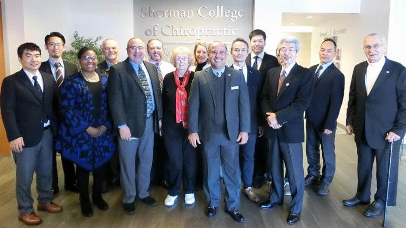 Sherman College Hosts Japanese Guests