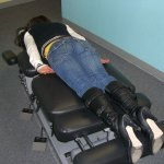 face down on chiropractic table