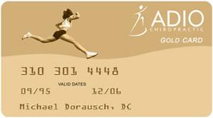 ADIO Chiropractic Gold Card