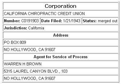 California Chiropractic Credit Union