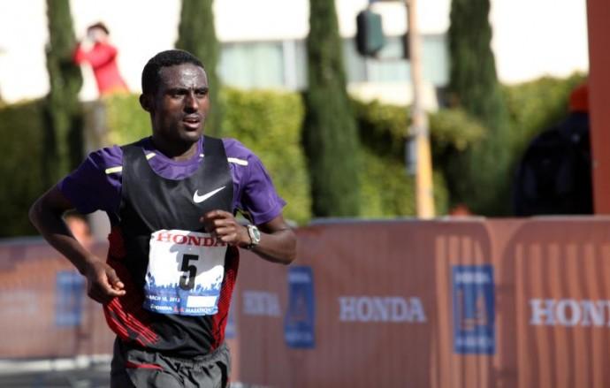 Dereje Yadete 2012 LA Marathon